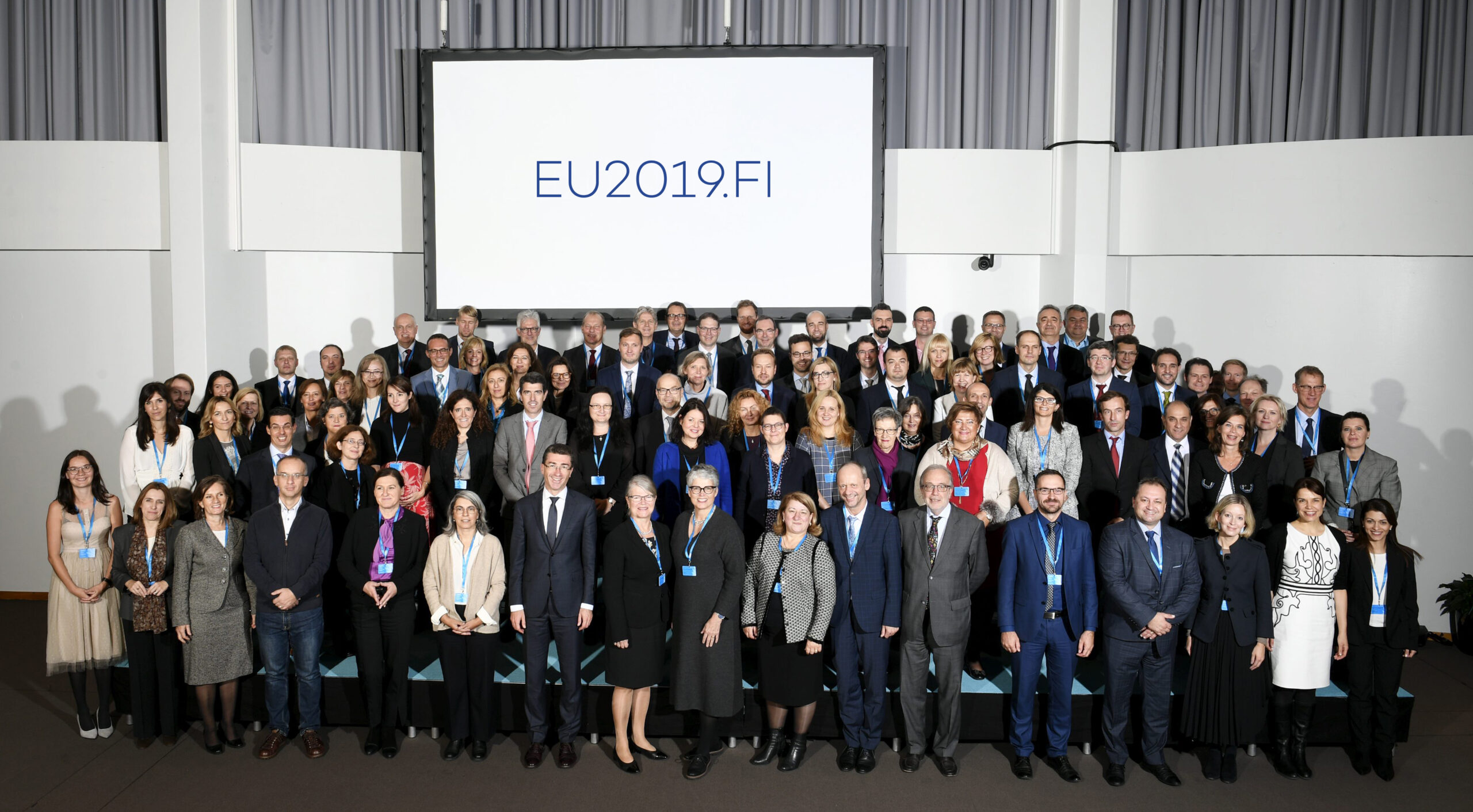 Family photo of EU Directors-General responsible for Cohesion Policy, Territorial Cohesion and Urban Matters in Helsinki, Finland on October 16, 2019.